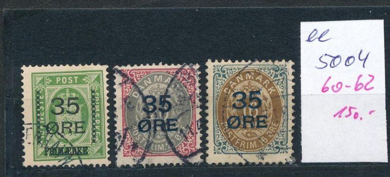 DK  Nr. 60-62  o  ( ee5004  ) aus einer Spezial Sammlung !
