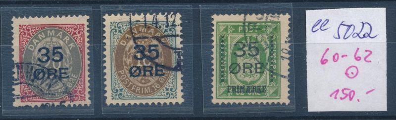 DK  Nr. 60-62  o  ( ee5022  ) aus einer Spezial Sammlung !