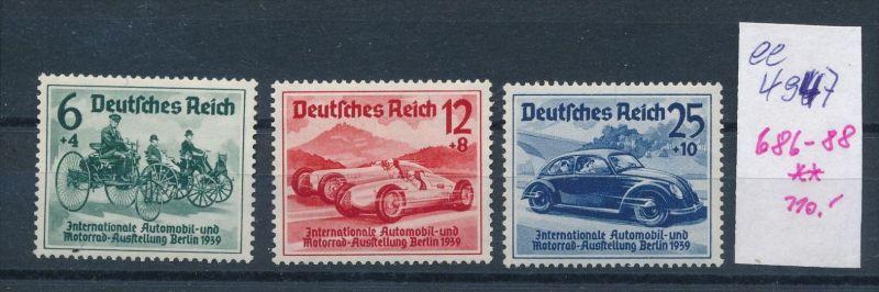 D.-Reich Nr. 686-88    **    (ee4947  )siehe scan....!
