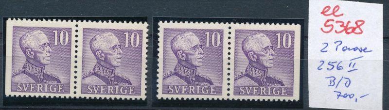 Schweden  Nr.2 Paare 256 II B/D...  **  (ee5368  )siehe scan....!
