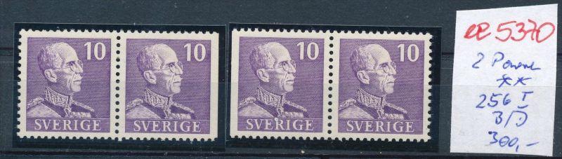 Schweden  Nr.2 Paare 256 I  B/D...  **  (ee5370  )siehe scan....!
