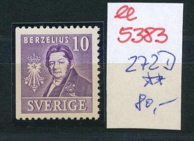 Schweden  Nr. 272 D  **  (ee5383  )siehe scan....!
