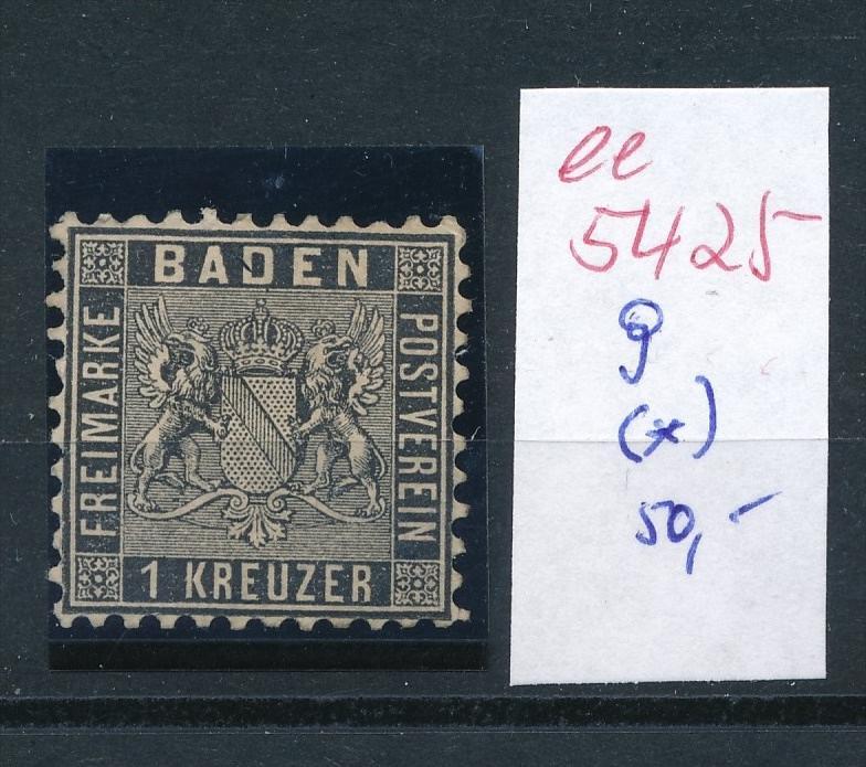 Baden  Nr.   9    (  ee5425  ) siehe scan....!