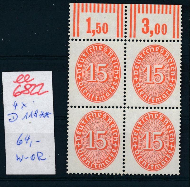 D.-Reich  Nr. D 118  x4    **      (ee6822  ) siehe scan