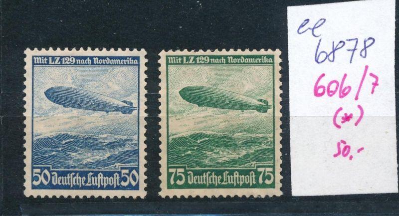 D.-Reich  Nr. 606/7  (*)   (ee6878  ) siehe scan