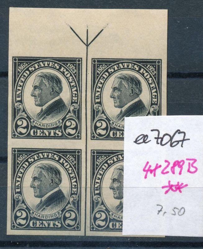 USA Nr. 4x 289 B  **    (ee7067  ) siehe scan 0