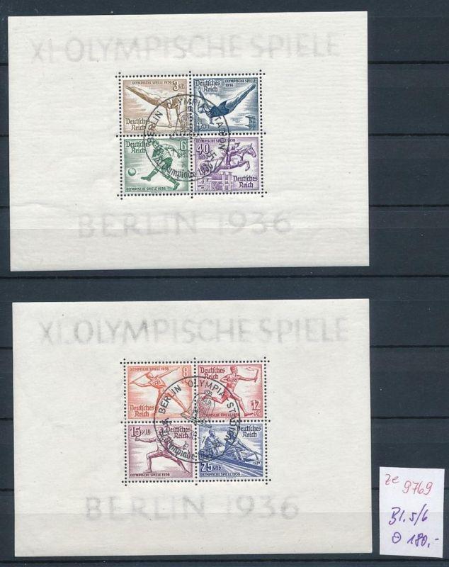 D.-Reich Block 5+6 o-STEMPEL.....    (ze9769  ) siehe scan 0