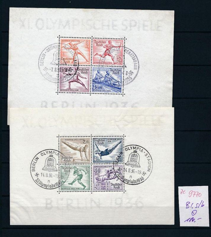 D.-Reich Block 5+6 o-STEMPEL.....    (ze9770  ) siehe scan