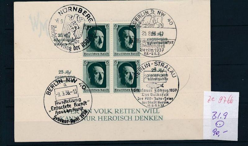 D.-Reich Block  9  o-STEMPEL.....    (ze9766  ) siehe scan
