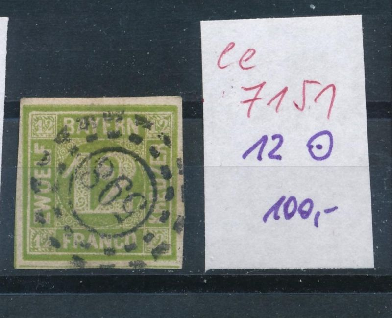 Bayern Nr. 12   o    (ee7151  ) siehe scan