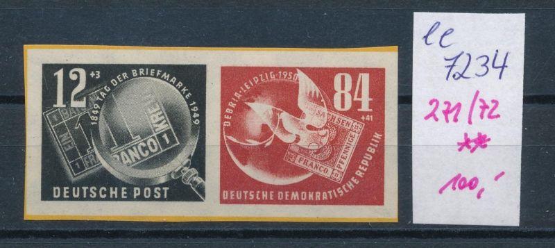 DDR Nr. 271-72 Block Marken   **     (ee7234  ) siehe scan