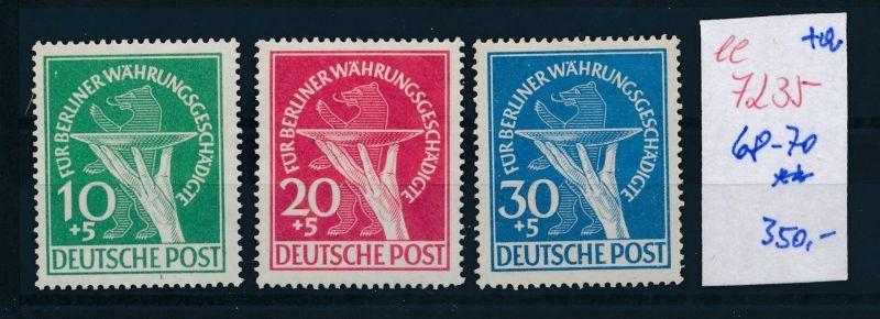 Berlin Nr. 68-70     **     (ee7235  ) siehe scan 0