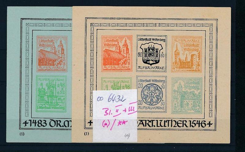 Wittenberg Blöock Paar **/(*)     (oo6432  ) siehe scan 0