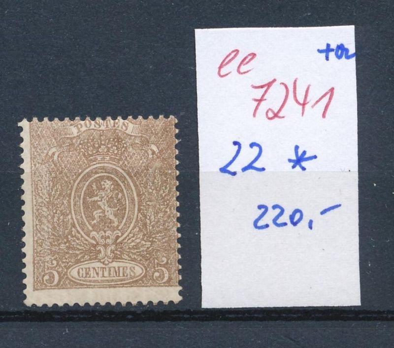 Belgien Nr. 22  * (ee7241  ) siehe scan