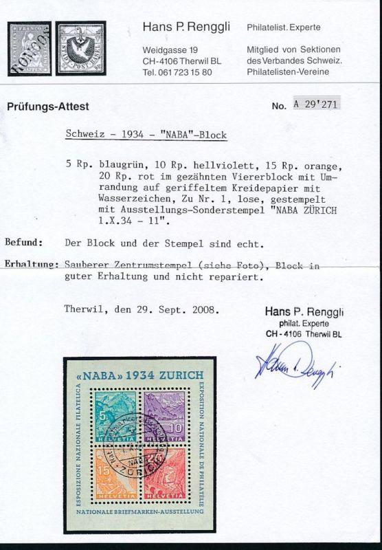 Schweiz Block 1   o  (p5058  ) siehe scan 1