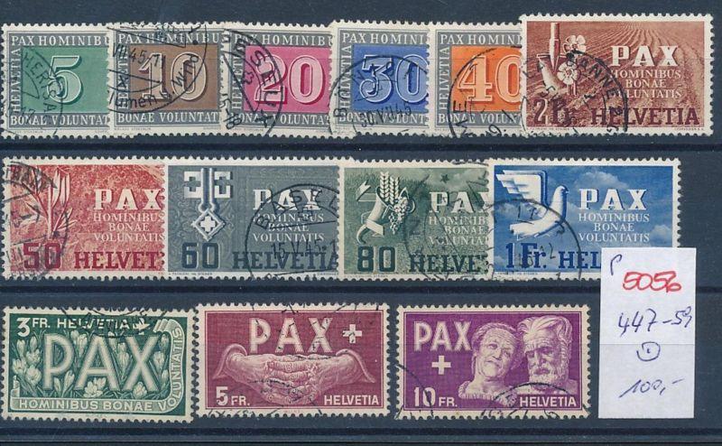 Schweiz 447-59 PAX  -Serie  o  (p5056  ) siehe scan 0