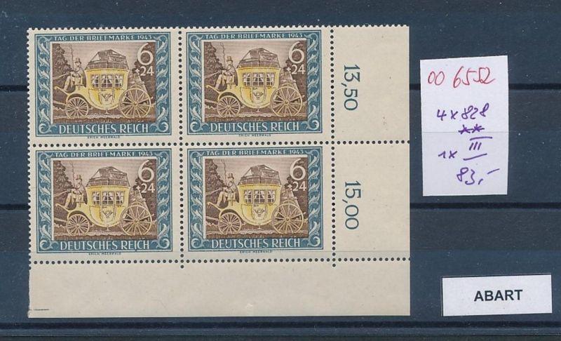 D.-Reich Nr. 828 mit PLF. **   (oo6552  ) siehe scan