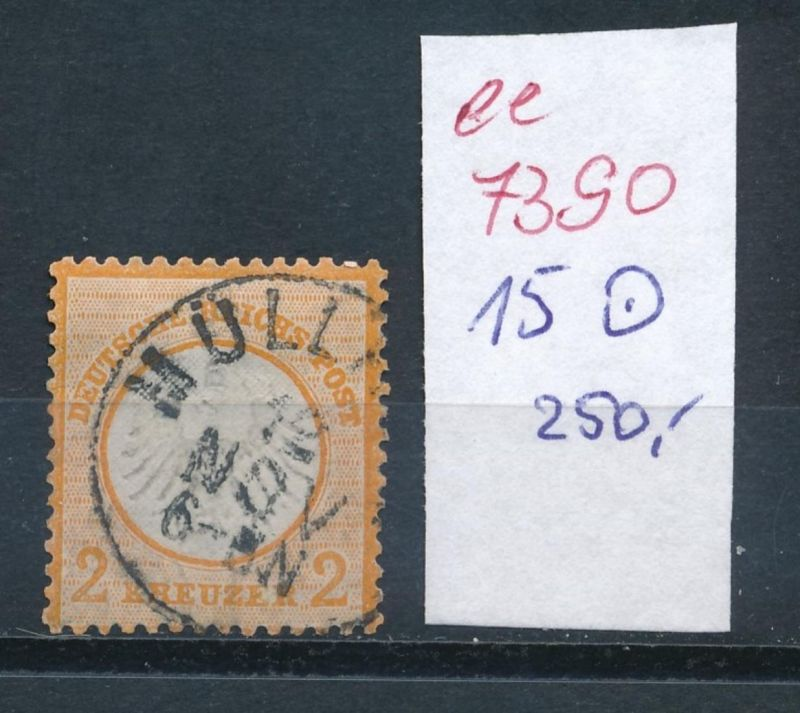 D.-Reich Nr .  15    -o    (ee7390  ) siehe scan