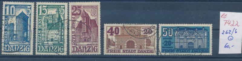 Danzig Nr. 262-66    o    (ee7422  ) siehe scan
