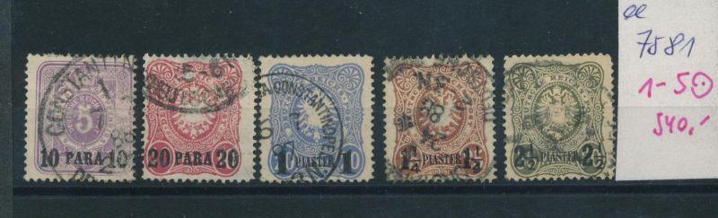 DP.-Türkei   Nr.   1-5   o  (ee7581  ) siehe scan