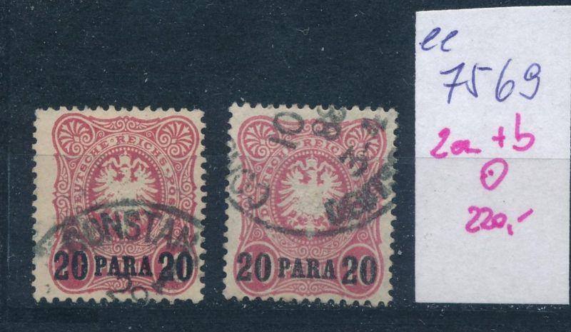 DP.-Türkei   Nr.   2 a+b   (ee7569  ) siehe scan