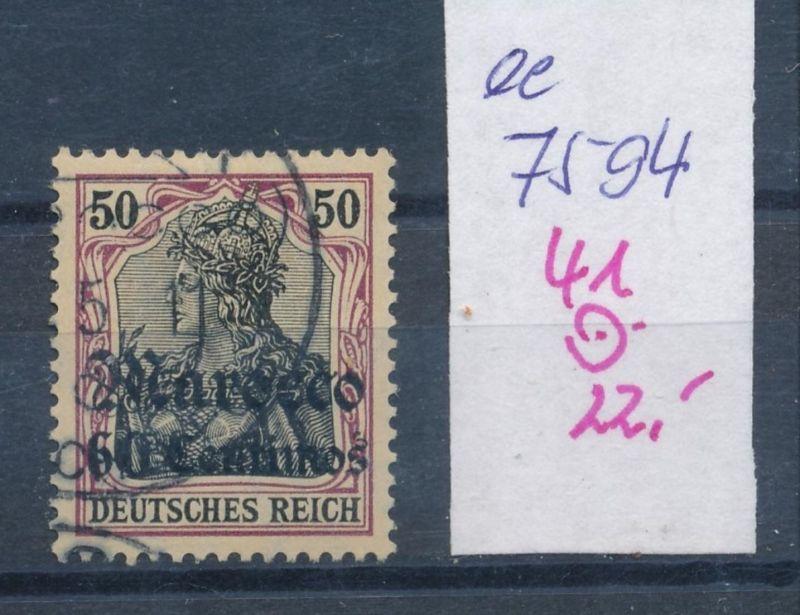D.-Post Marokko  Nr. 41  o  (ee7594  ) siehe scan