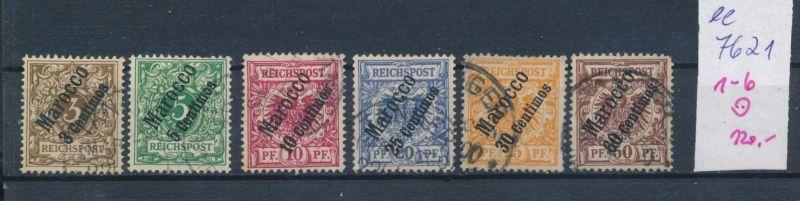 D.-Post Marokko  Nr. 1-6 o  (ee7621 ) siehe scan