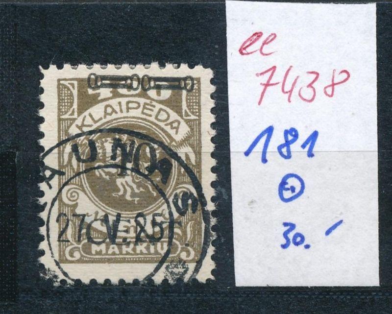 Memel    Nr.  181  o     (ee7438  ) siehe scan