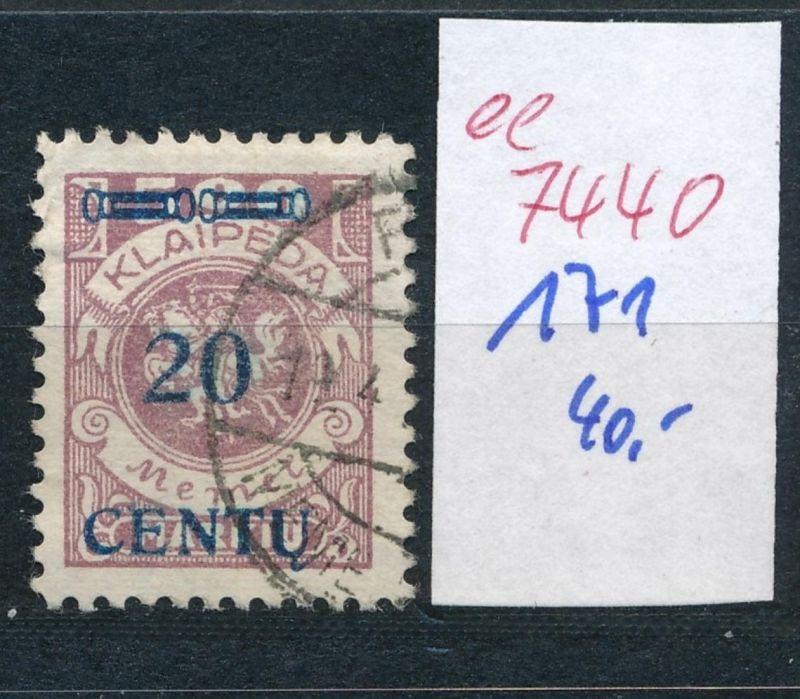 Memel    Nr.  171  o     (ee7440  ) siehe scan