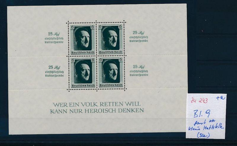 D.-Reich Nr. Block 9 - bitte Zettel beachten    (zu243  ) siehe scan