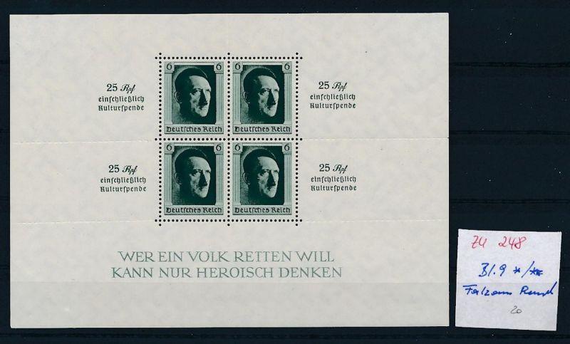 D.-Reich Nr. Block 9 - bitte Zettel beachten    (zu248  ) siehe scan