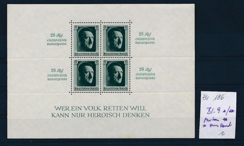D.-Reich Nr. Block 9 - bitte Zettel beachten    (zu186  ) siehe scan