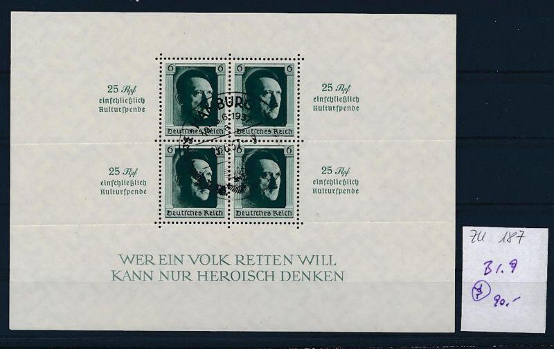 D.-Reich Nr. Block 9 - bitte Zettel beachten    (zu187  ) siehe scan