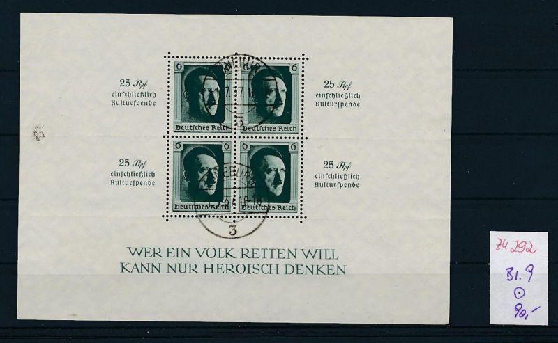 D.-Reich Nr. Block 9 - bitte Zettel beachten    (zu292  ) siehe scan