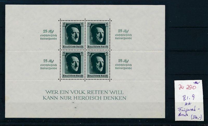 D.-Reich Nr. Block 9 - bitte Zettel beachten    (zu290  ) siehe scan