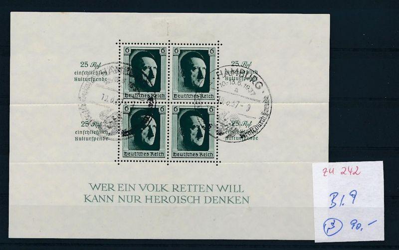 D.-Reich Nr. Block 9 - bitte Zettel beachten    (zu242  ) siehe scan