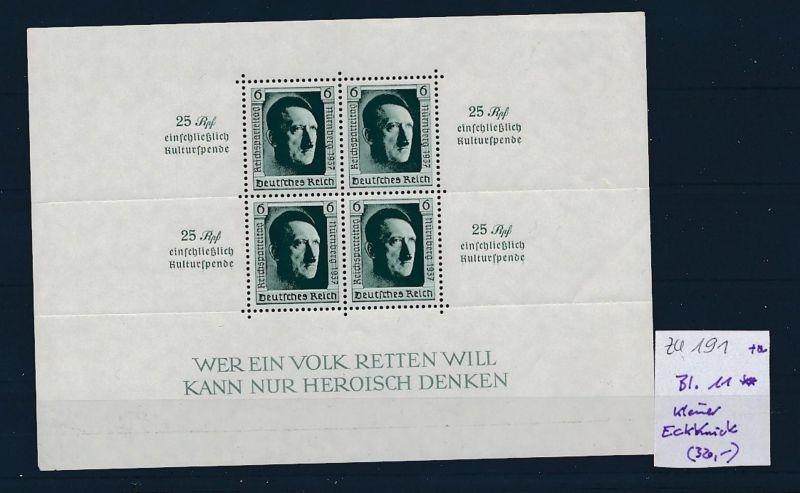 D.-Reich Nr. Block 11   - bitte Zettel beachten    (zu191  ) siehe scan