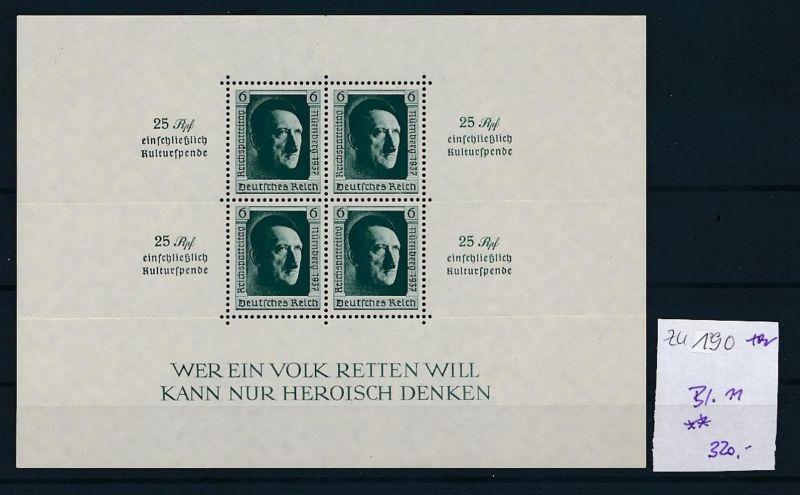 D.-Reich Nr. Block 11   - bitte Zettel beachten    (zu190  ) siehe scan