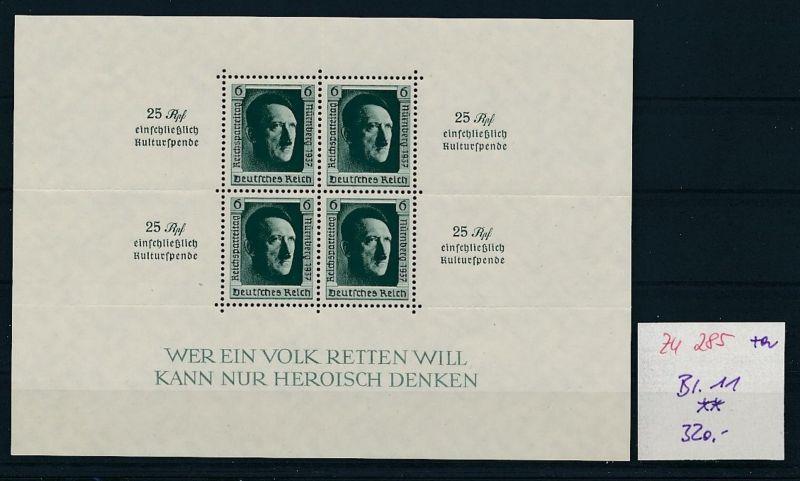 D.-Reich Nr. Block 11   - bitte Zettel beachten    (zu285  ) siehe scan