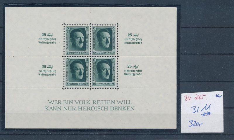 D.-Reich Nr. Block 11   - bitte Zettel beachten    (zu245  ) siehe scan