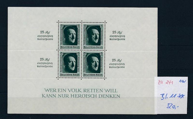 D.-Reich Nr. Block 11   - bitte Zettel beachten    (zu241  ) siehe scan