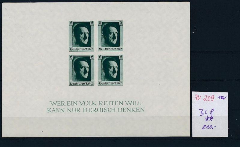 D.-Reich Nr. Block  8   - bitte Zettel beachten    (zu209  ) siehe scan