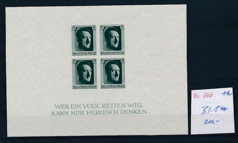 D.-Reich Nr. Block  8   - bitte Zettel beachten    (zu246  ) siehe scan