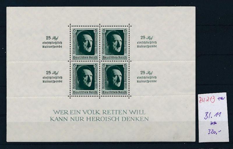 D.-Reich Nr. Block  11    - bitte Zettel beachten    (zu213  ) siehe scan