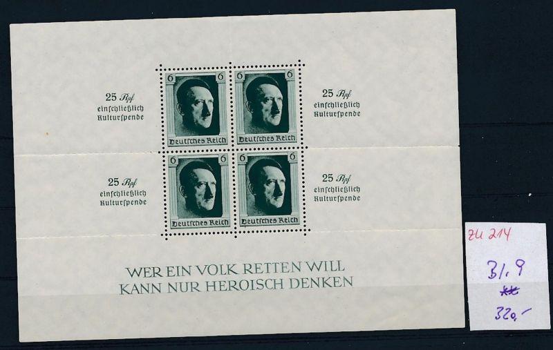 D.-Reich Nr. Block  11    - bitte Zettel beachten    (zu214  ) siehe scan