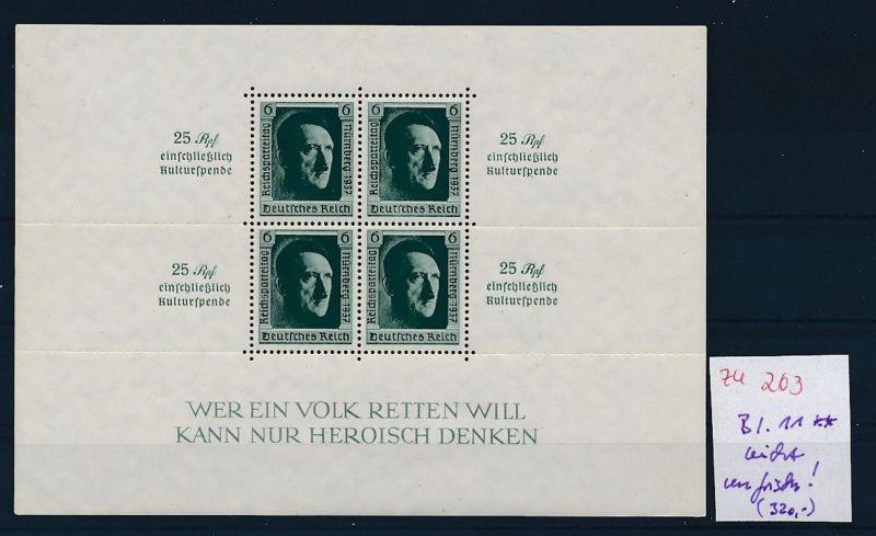 D.-Reich Nr. Block 11  -bitte Zettel beachten....    (zu203  ) siehe scan