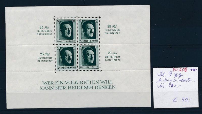 D.-Reich Nr. Block 11  -bitte Zettel beachten....    (zu206  ) siehe scan