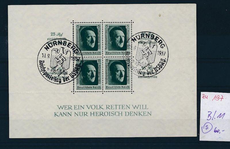 D.-Reich Nr. Block 11  -bitte Zettel beachten....    (zu197  ) siehe scan
