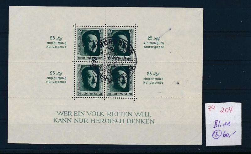 D.-Reich Nr. Block 11  -bitte Zettel beachten....    (zu204  ) siehe scan