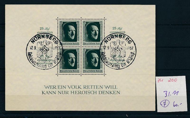 D.-Reich Nr. Block 11  -bitte Zettel beachten....    (zu200  ) siehe scan